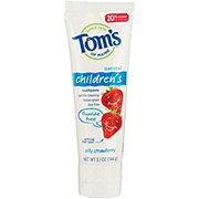 Tom's of Maine Fluoride-Free Silly Strawberry Children's Toothpaste