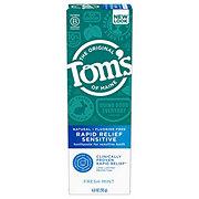 Tom's of Maine Rapid Relief Sensitive Mint Toothpaste