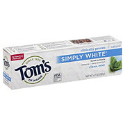 Tom's of Maine Simply White Clean Mint Fluoride Toothpaste