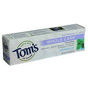 Tom's of Maine Whole Care Peppermint Gel Toothpaste with Fluoride