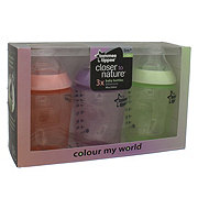 Tommee Tippee Colour My World Baby Bottles, Girl, Assorted Colors