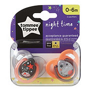 Tommee Tippee Night Time Pacifiers (0-6M), Assorted Colors