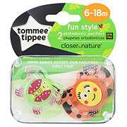 Tommee Tippee Pacifiers Closer To Nature Fun Style 6-18M