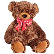 Toy Factory Jumbo Bear With Polka Dot Bow