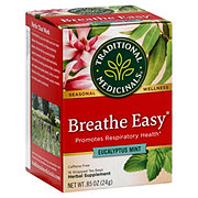 Traditional Medicinals Breathe Easy Caffeine Free Herbal Tea