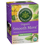 Traditional Medicinals Organic Peppermint Smooth Move Stimulant Laxative Tea Bags
