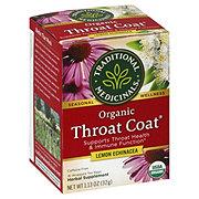 Traditional Medicinals Organic Throat Coat Lemon Echinacea Herbal Tea Bags