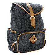 Trailmaker Dark Blue Jean Drawstring Cotton Backpack