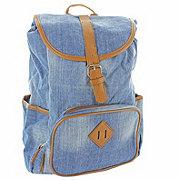 Trailmaker Light Blue Jean Drawstring Cotton Backpack