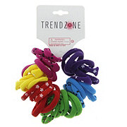 Trend Zone Assorted Knit Pony O's Hair Ties, Assorted Colors