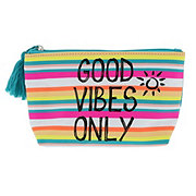 Trend Zone Cosmetic Bag Good Vibes Stripes