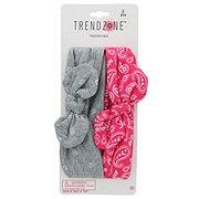 Trend Zone Glitter Print Tie Headwrap