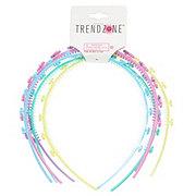 Trend Zone Spaced Hearts Headbands