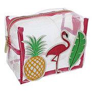 Tri Coastal Design Clear Loaf Cosmetic Havana Flamingo