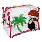 Tri Coastal Design Clear Loaf Cosmetic Havana Nights Toucan