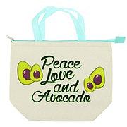 Tri Coastal Design Lunch Tote Peace Love And Avocados