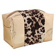 Tri Coastal Design Rose Gold Animal Print Cosmetic Bag