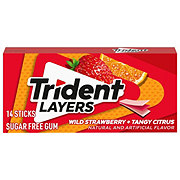 Trident Layers Sugar Free Wild Strawberry + Tangy Citrus Gum