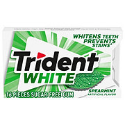 Trident White Sugar Free Spearmint Gum