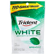 Trident White White Unwrapped Spearmint Sugar Free Gum