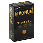 Trojan MAGNUM Thin Lubricated Condoms