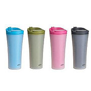 Trudeau 16 OZ Microwaveable Coffee Tumbler, Assorted Colors
