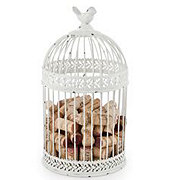 True Fabrications Country Cottage Bird Cage Cork Holder