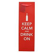 True Fabrications Keep Calm & Drink On Wine Bag