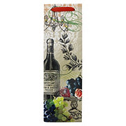 True Fabrications Marketplace Vintage Collage Wine Bag