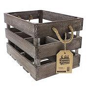 True Fabrications Rustic Bottle Wood Crate