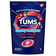 Tums Chewy Delights Ultra Strength Very Cherry Soft Chews