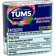 Tums Extra Strength 750 Assorted Berries Chewable Tablets
