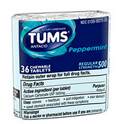 Tums Regular Strength 500 Peppermint Chewable Tablets
