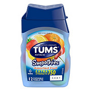 Tums Smoothies Extra Strength 750 Assorted Fruit Chewable Tablets