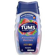 Tums Ultra Strength 1000 Assorted Berries Chewable Tablets