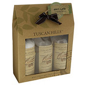 Tuscan Hills 3 Piece Body Care Set Vanilla Almond