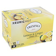Twinings Hot Lemon Ginger Herbal Tea K Cup Pods