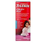 Tylenol Children's Cold + Flu Oral Suspension Bubblegum