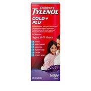 Tylenol Children's Cold + Flu Oral Suspension Grape