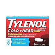 Tylenol Cold + Head Congestion Severe Caplets