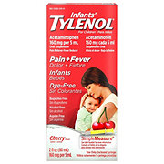 Tylenol Infants Dye-free Pain + Fever Oral Suspension Cherry