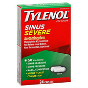 Tylenol Sinus Congestion And Pain Severe For Adults Daytime Caplets