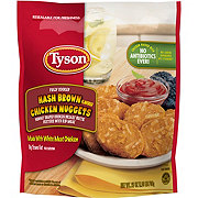 Tyson Fully Cooked Hash Brown Chicken Nuggets
