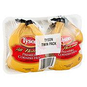 Tyson Premium Twin Pack Rock Cornish Game Hen