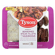Tyson Seasoned Steak Fillets with Mushrooms Dinner Kit