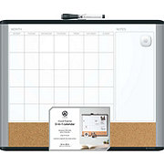 U Brands 3 In 1 Dry Erase Combo Board