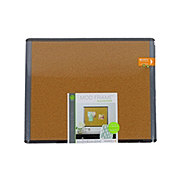 U Brands Black and Gray Cork Board