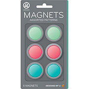 U Brands Fashion Round Magnets Assorted Colors