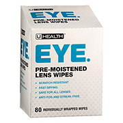 UHealth Pre-Moistened Lens Wipes