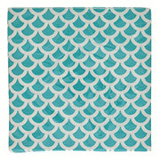 Unique 16ct Cobalt Teal Scallops Lunch Napkins